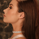 Model wearing Nikita By Niki AMIRA 3 row choker