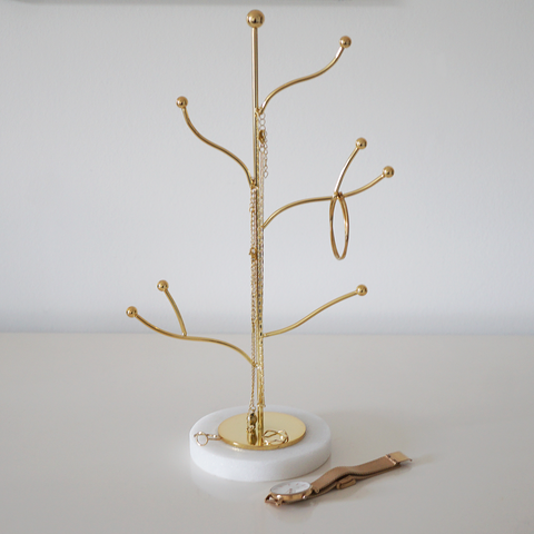 Solid Marble Jewellery Tree Stand | 3 Colours