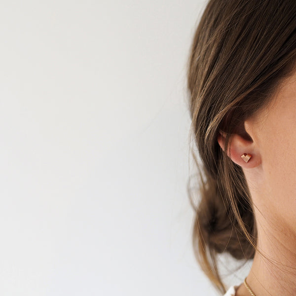 Mini Rose Gold Studs | From the Heart
