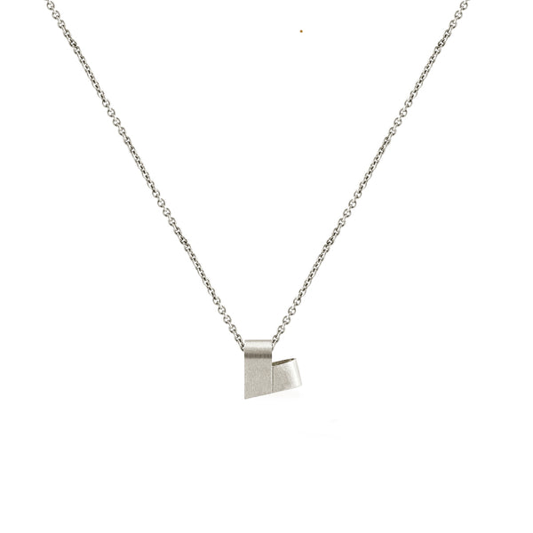 Mini White Gold Necklace | From the Heart