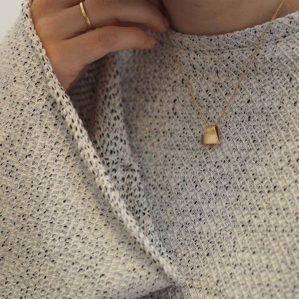 Diamond Yellow Gold Necklace | From the Heart