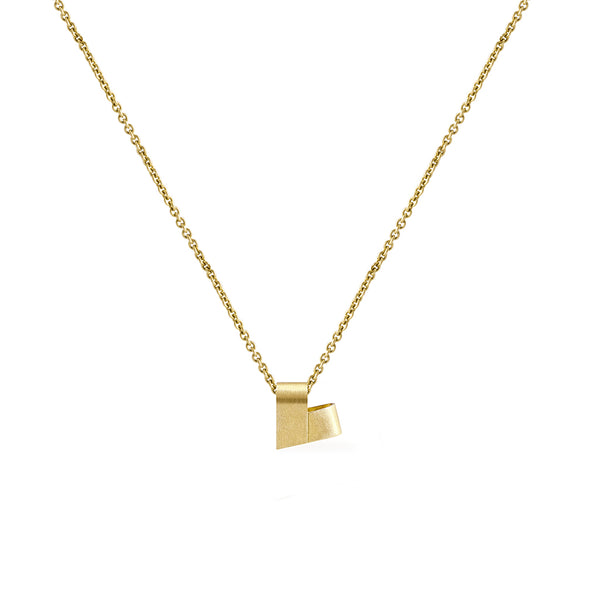 Mini Yellow Gold Necklace | From the Heart