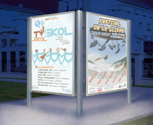 NOTICE BOARDS - POSTER CASES - PRESTIGE '2000' Single/Double sided - indoor/outdoor)