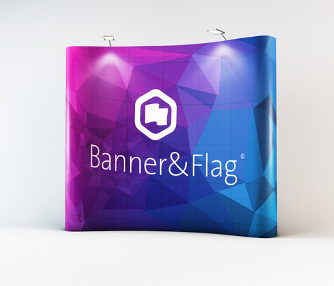 Pop-Up Banners Curved