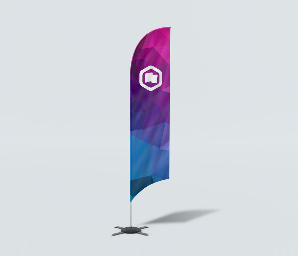 ZOOM FEATHER SHAPED FLAG