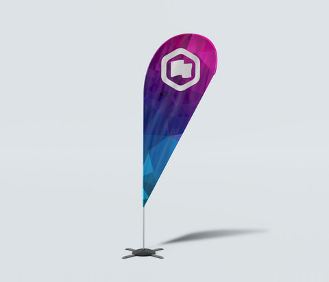 ZOOM QUILL SHAPED FLAG