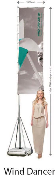 ZOOM WIND DANCER SHAPED FLAG