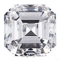 0.47 Carat Asscher Diamond E Color VS2 Clarity