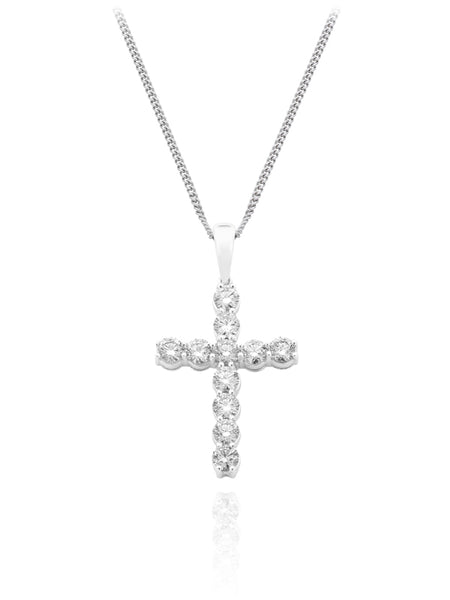 Diamond Eleven Stone Cross