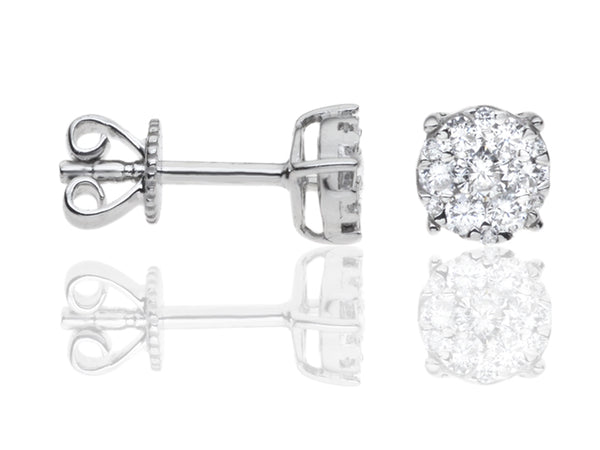 Diamond Solitaire/Cluster Earrings
