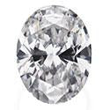 0.6 Carat Oval Diamond J Color VS1 Clarity GIA Certificate