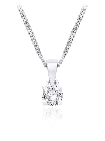 Diamond Single Stone Pendant 0.25ct