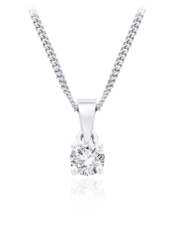 Diamond Single Stone Pendant 0.33ct