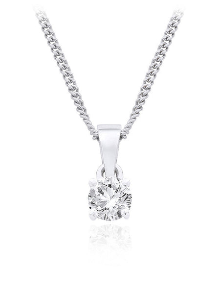 Diamond Pendant 0.33 Carat Round Diamond I Color SI2 Clarity