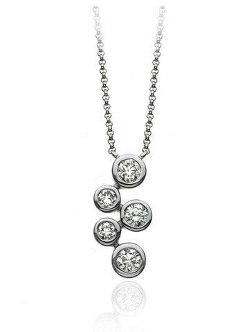 Diamond Five Stone Bubble Pendant