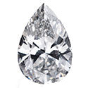 0.26 Carat Pear Diamond J Color VS2 Clarity