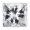 0.91 Carat Princess Diamond D Color VVS1 Clarity GIA Certificate