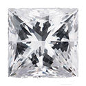 0.27 Carat Princess Diamond F Color SI2 Clarity