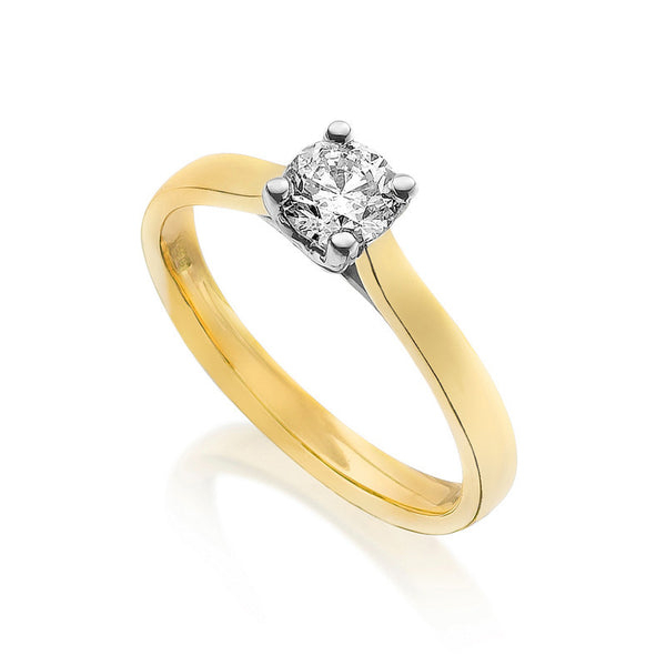 Diamond Engagement Ring 0.33 Carat Round Diamond E Color VVS1 Clarity