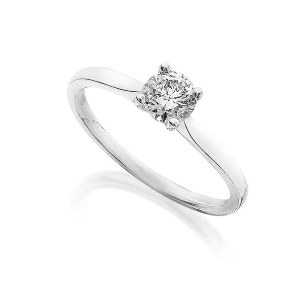 Diamond Engagement Ring 0.33 Carat Round Diamond I Color SI2 Clarity IGI Certificate