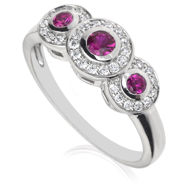 Diamond & Ruby Dress Ring