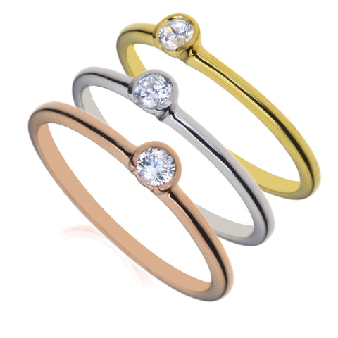 Diamond Triplicate Ring