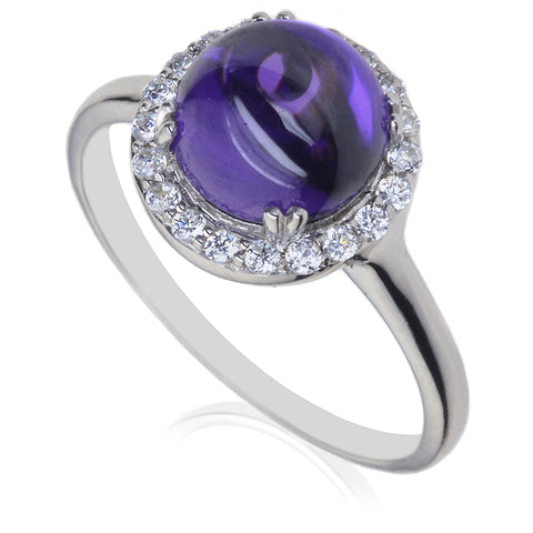 Diamond & Amethyst Dress Ring