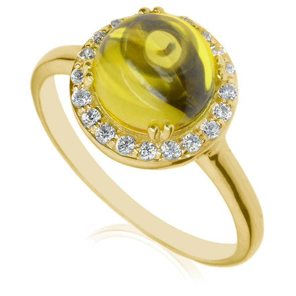 Diamond & Citrine Dress Ring