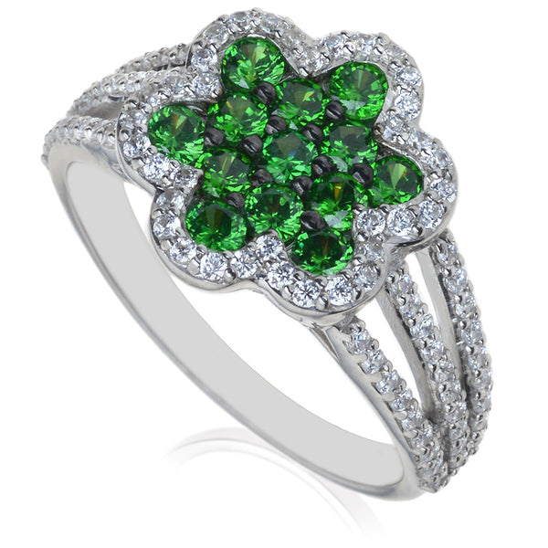 Diamond & Emerald Dress Ring