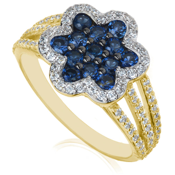 Diamond & Sapphire Dress Ring