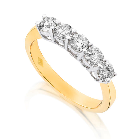 Diamond Five Stone Ring