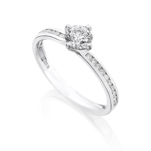 Diamond Ring Semi Mount 0.33 Carat Round Diamond J Color SI1 Clarity GIA Certificate