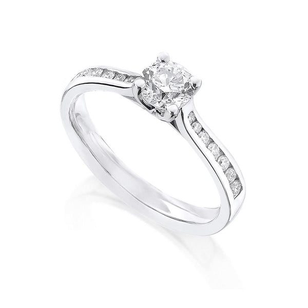 Diamond Ring Semi Mount 0.33 Carat Round Diamond I Color SI2 Clarity IGI Certificate