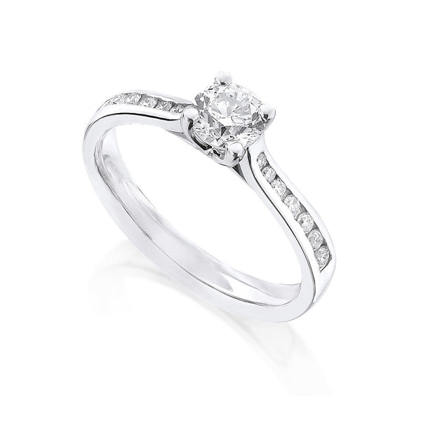 Diamond Ring Semi Mount 0.33 Carat Round Diamond I Color SI2 Clarity