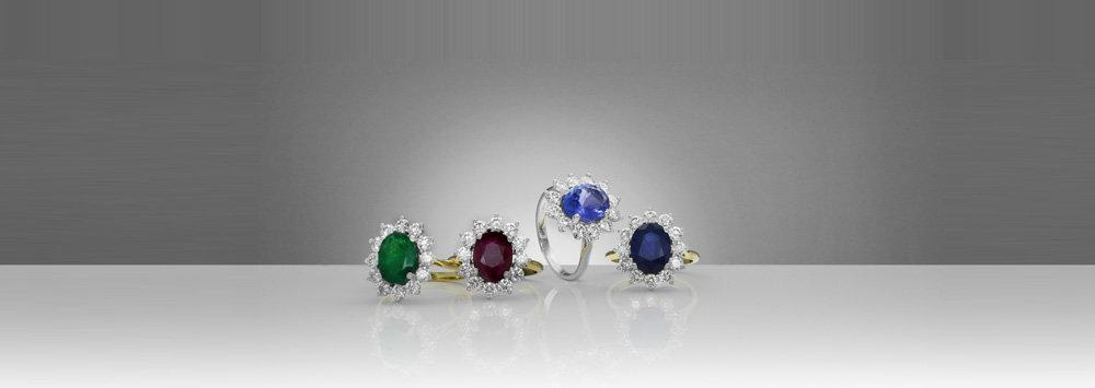 The Diamond Jewellers.com - Fine Diamond Jewellery and Ring Earrings and Pendant in Emerald Ruby Sapphire and Tanzanite