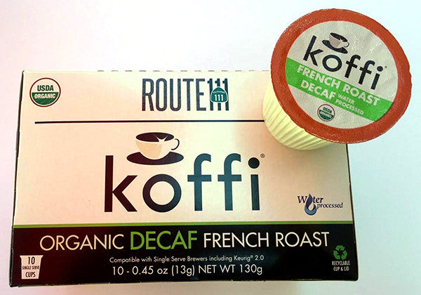 SINGLE SERVE: ROUTE111 Decaf Organic French Roast