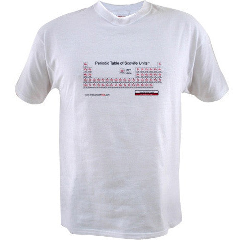 Periodic Table of Scoville Units | Hot Sauce T-Shirt