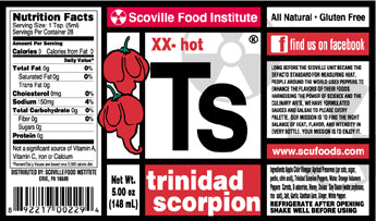"2 bottles of Trinidad Scorpion Hot Sauce""Ts"" - FREE SHIPPING!"