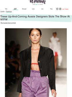 WHIMN - These Up-And-Coming Aussie Designers Stole The Show At NYFW | HAUS OF SONG