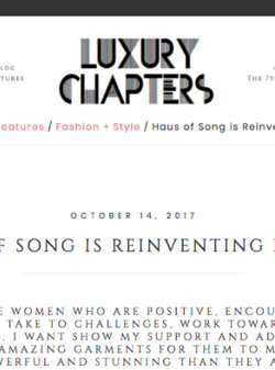 7th MAGAZINE : LUXURY CHAPTERS Interview | HAUS OF SONG