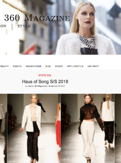 FASHION 360 MAGAZINE - NYFW | HAUS OF SONG