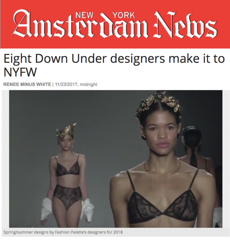 AMSTERDAM NEWS NEW YORK - Eight Down Under designers make it to NYFW | HAUS OF SONG