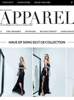 APPAREL MAGAZINE NZ | HAUS OF SONG