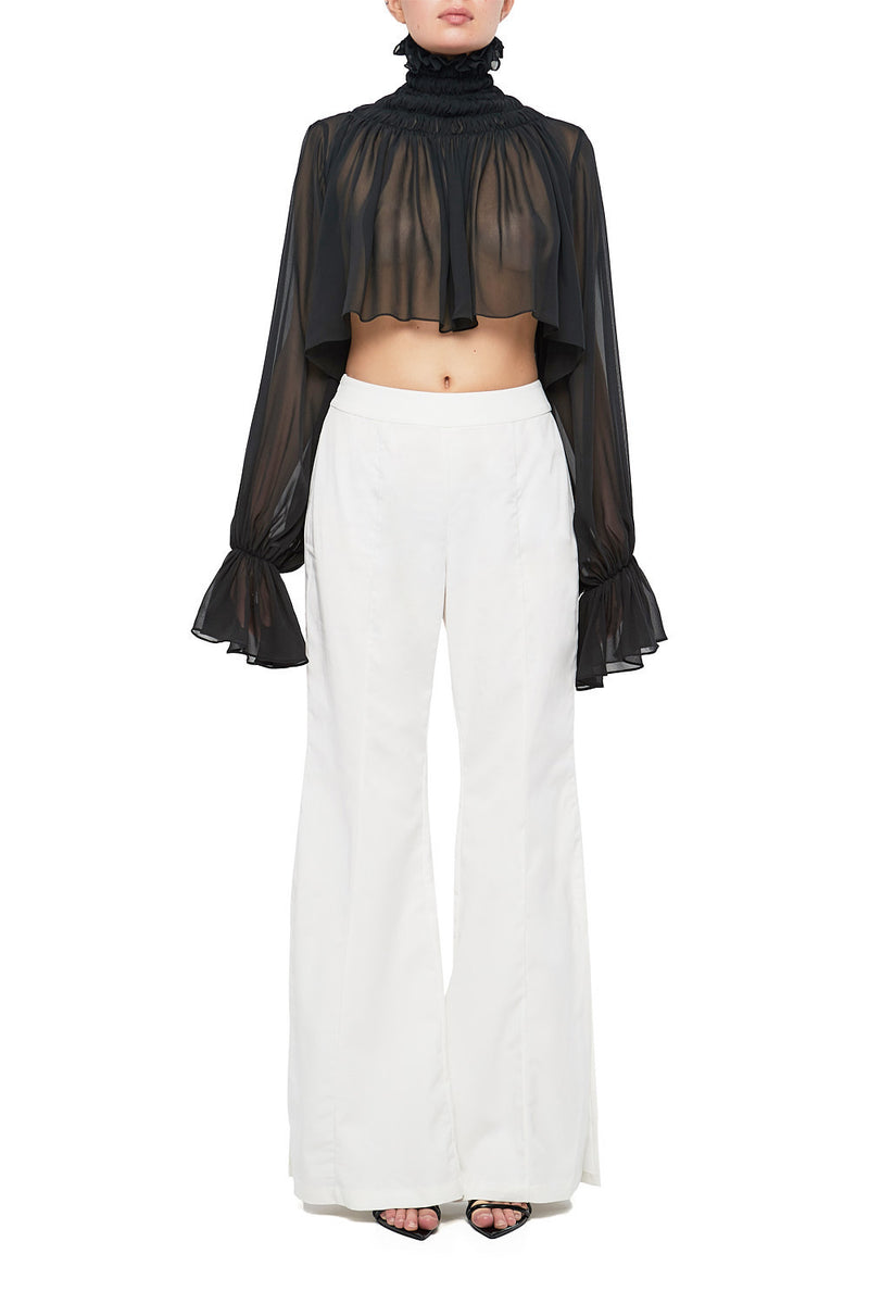 LORI Flared Side Slit Pant - HAUS OF SONG