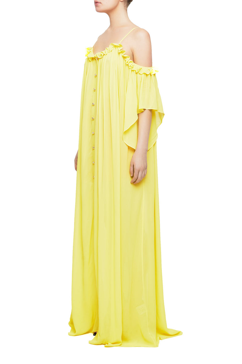 ESRA Cold-Shoulder Maxi Dress - HAUS OF SONG