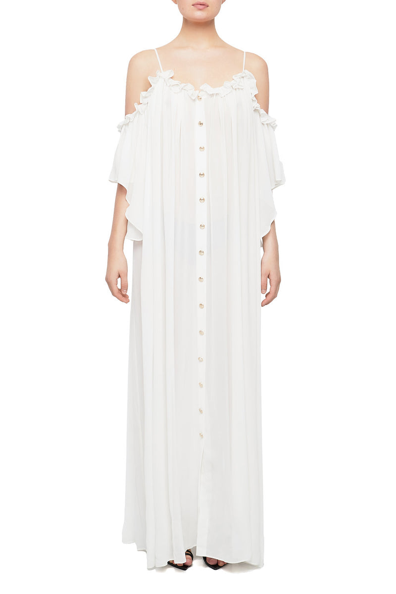 ESRA Cold-Shoulder Maxi Dress | HAUS OF SONG