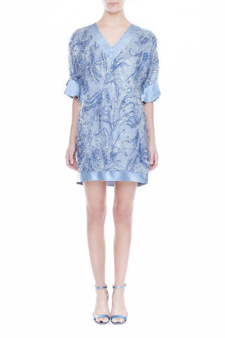LILLIAN Oversized Silk Dress - LAVENDER BLUE | HAUS OF SONG