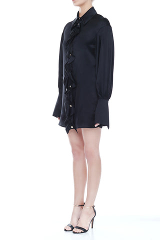 ELISHA Silk Shirt Dress | HAUS OF SONG