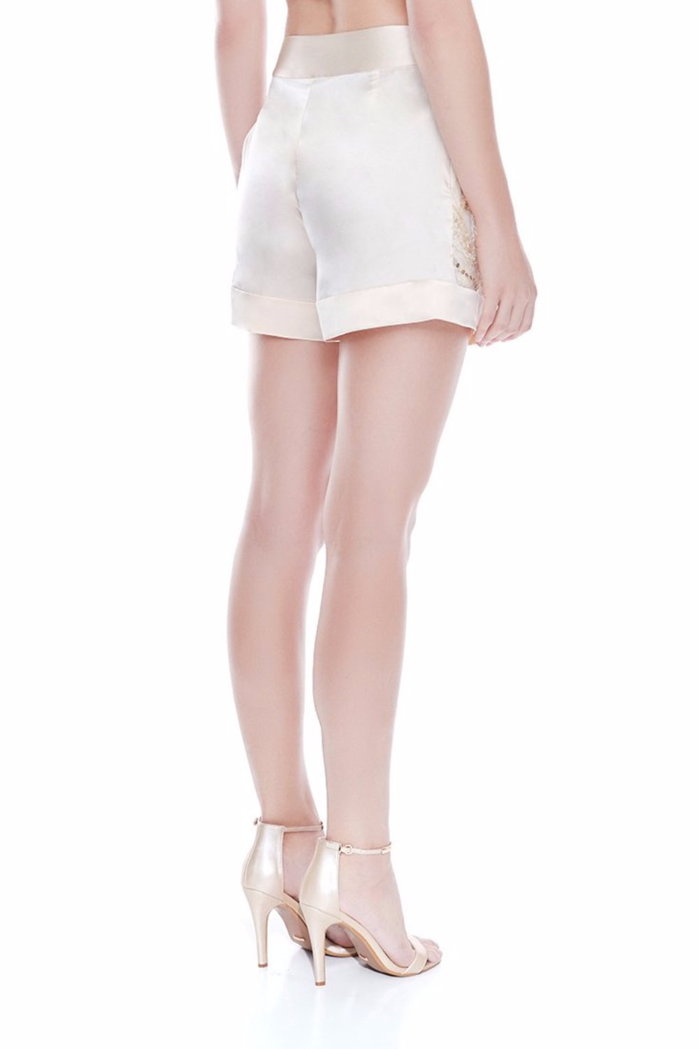 ANDREA Lace Satin Short - CHAMPAGNE | HAUS OF SONG