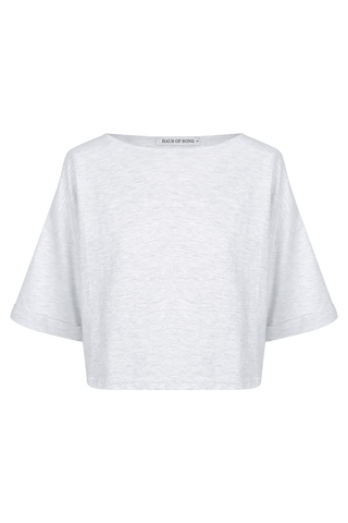 The HS Cropped Tee - WHT